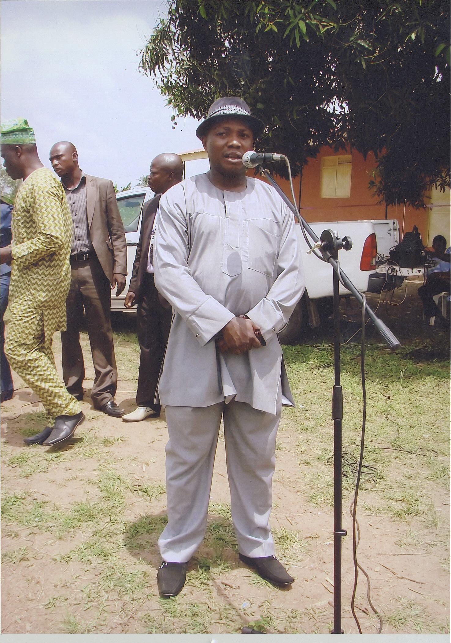 Barrister Sola Oyeyemi Delivering A Speech