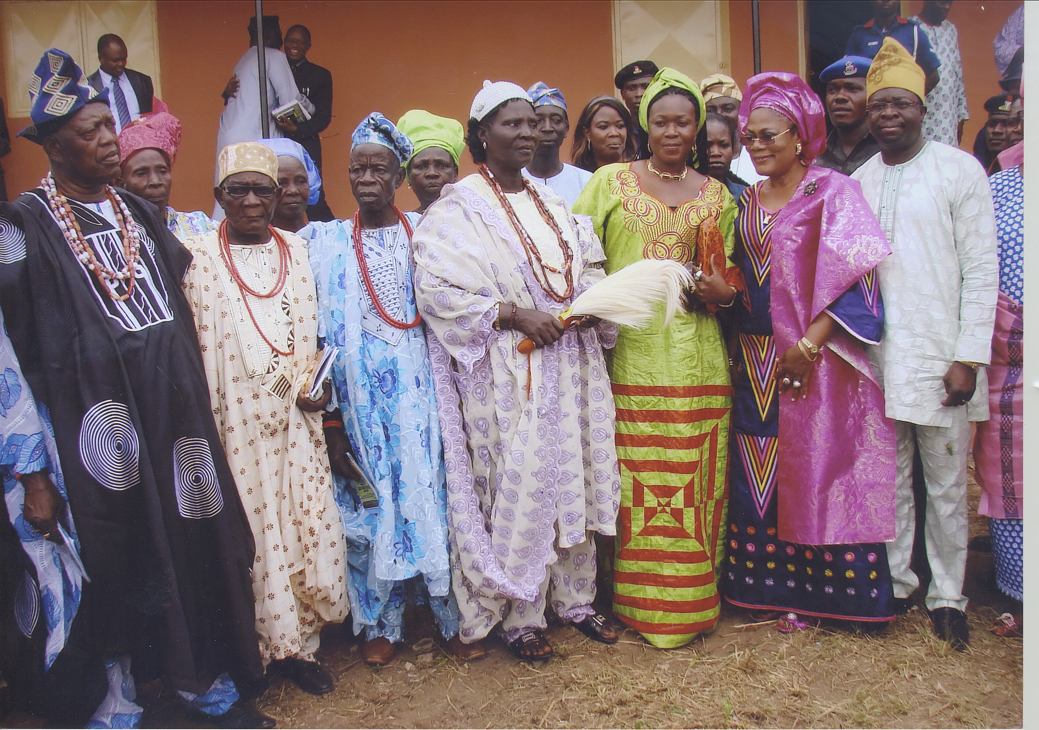 Ere-Ijesha Community High Chief Surrounded By A Prestigious Crowd