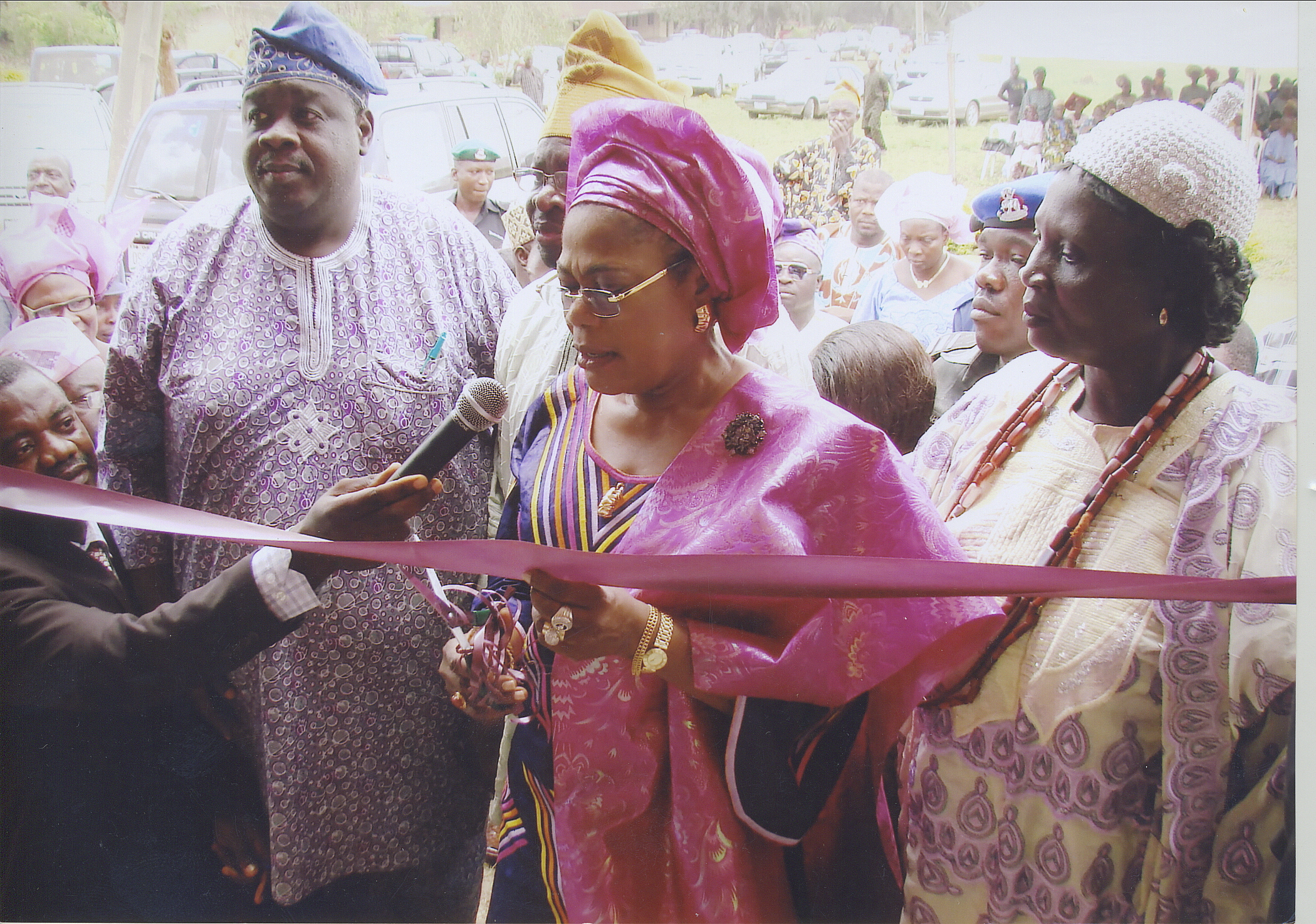Ribbon Cutting With Deputy Governor Of Osun State, Regent Of Ere-Ijesha, And Mr Fatirogun