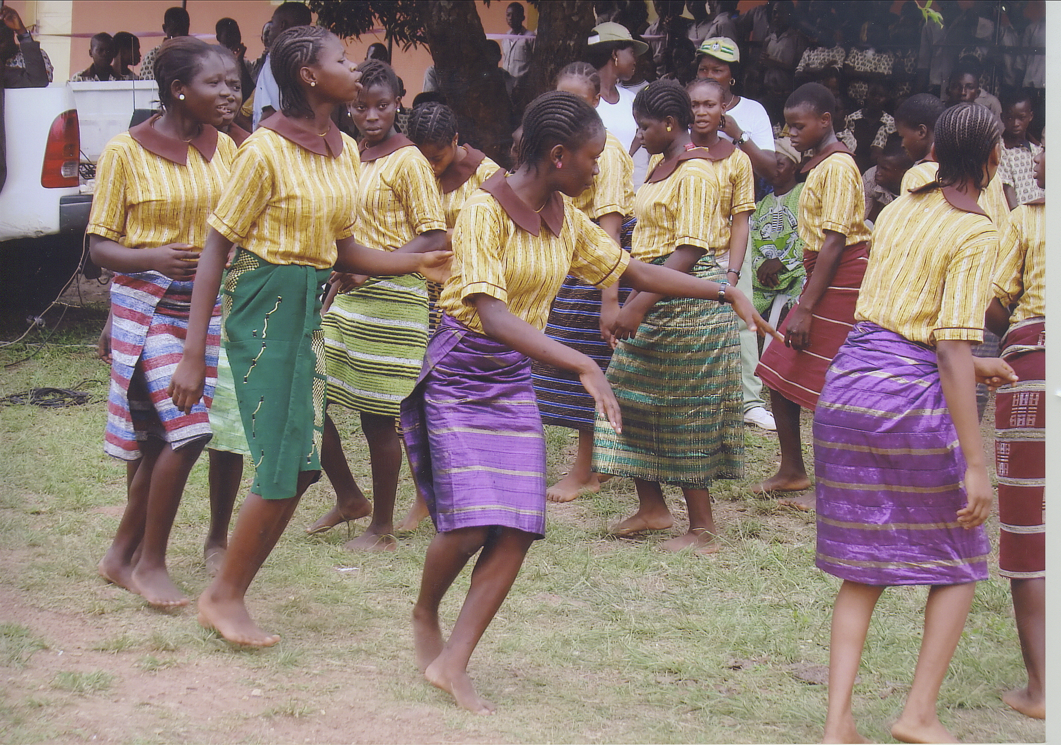 Students Dancing In A Traditional Style