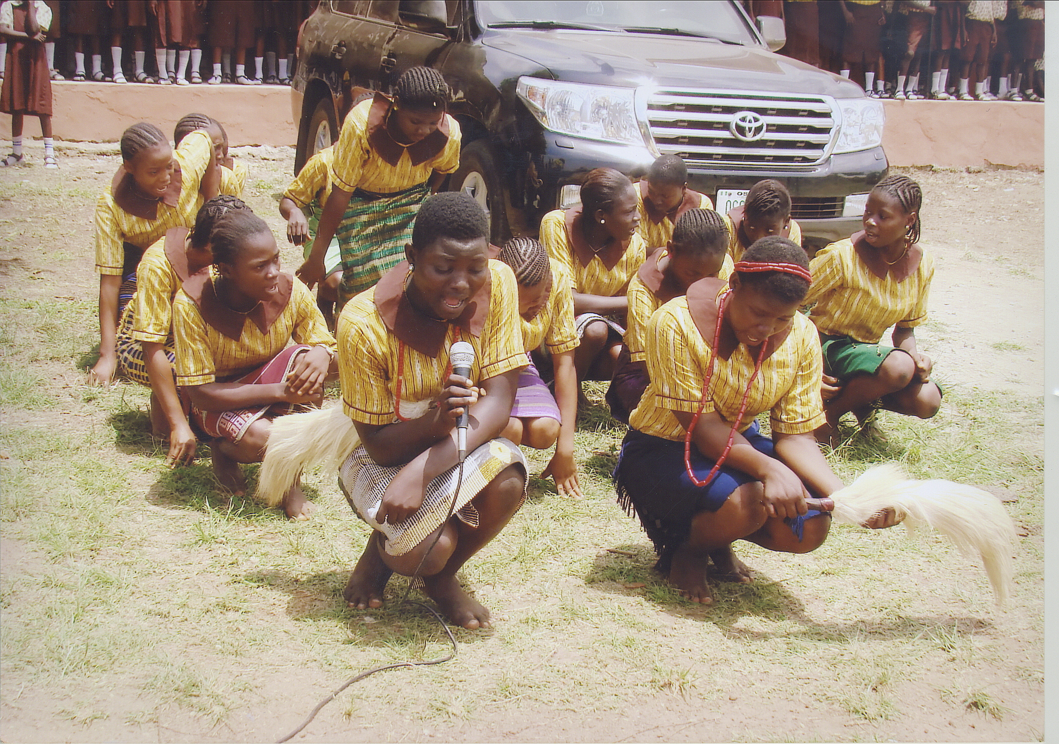 Students Performing A Traditional Dance